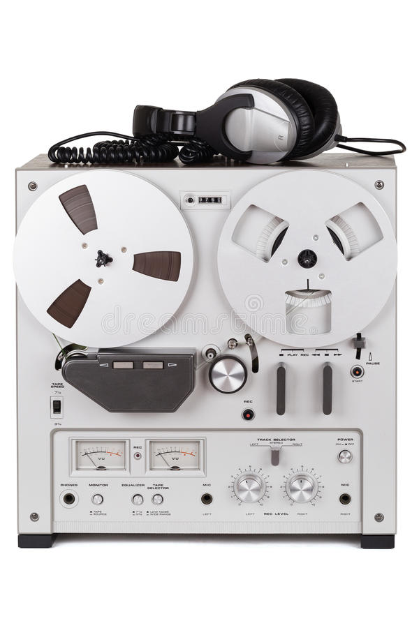 Parallell stereo- spelare för rullbandspelardäckregistreringsapparat fotografering för bildbyråer