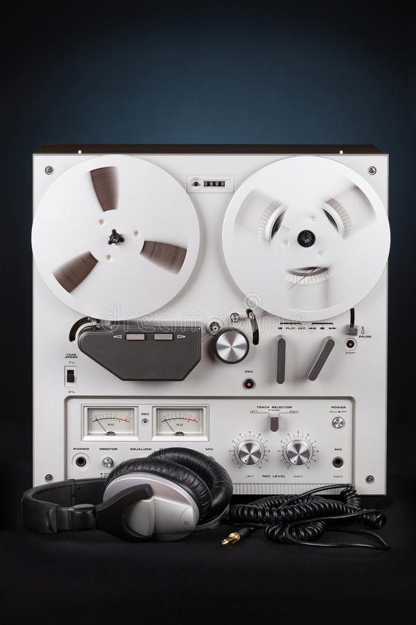 Parallell stereo- spelare för rullbandspelardäckregistreringsapparat arkivfoto