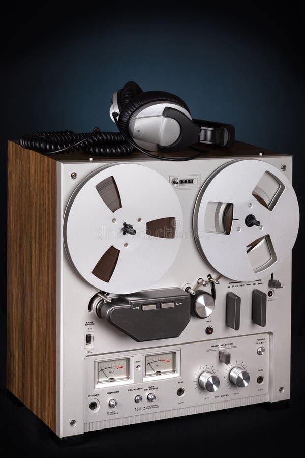 Parallell stereo- spelare för rullbandspelardäckregistreringsapparat royaltyfri fotografi