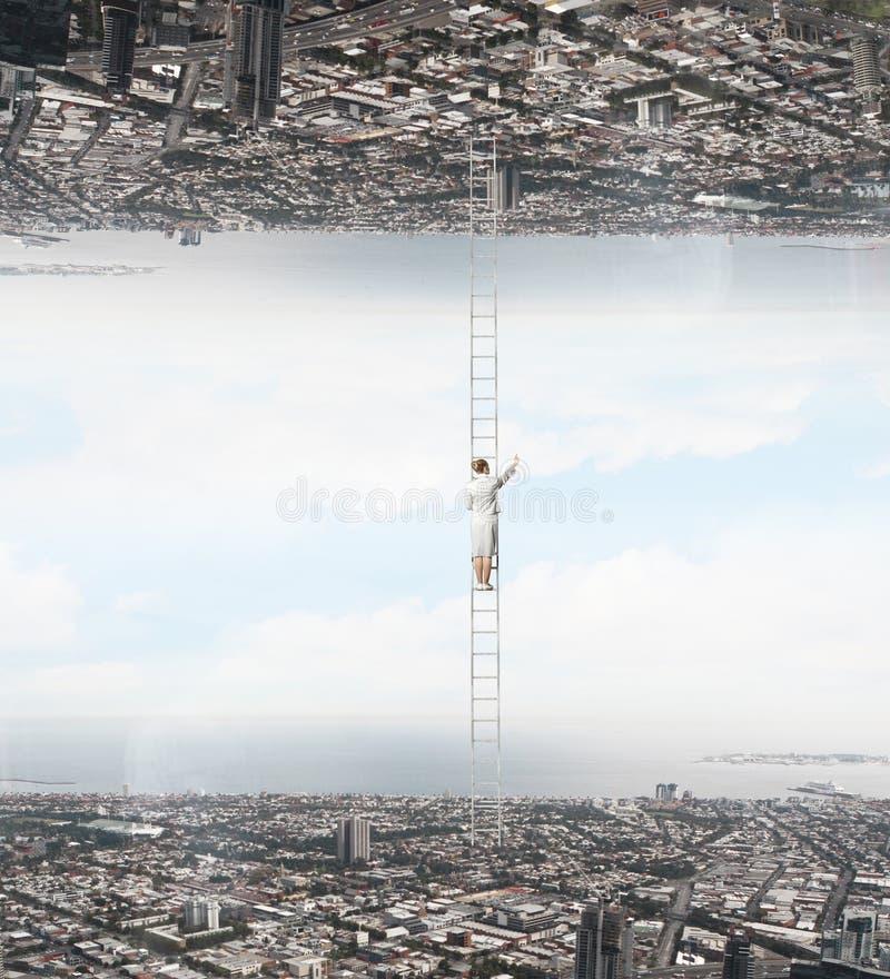Parallelle werelden stock foto