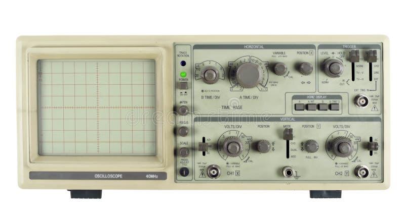 parallellt gammalt oscilloskop royaltyfri fotografi