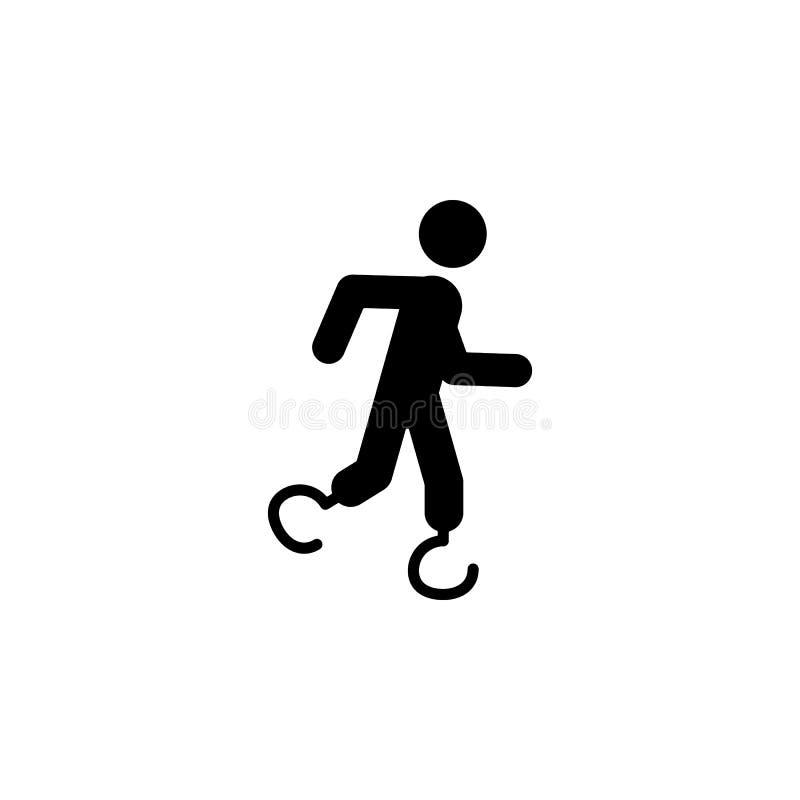 paralympic, atletiekpictogram Element van gehandicapte mens in sportpictogram voor mobiele concept en webtoepassingen Gedetaillee vector illustratie
