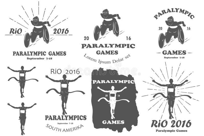 Paralympic games paralympics rio set vector illustration