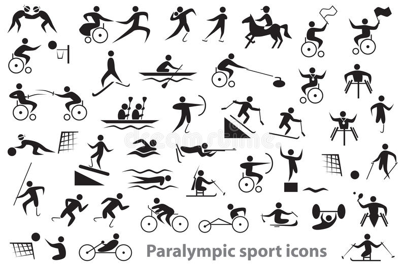 Paralympic sport icons stock images