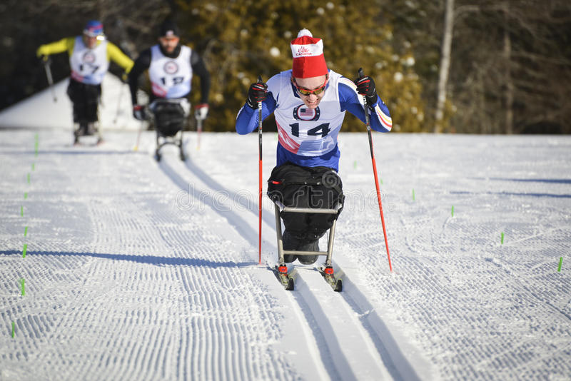 Paralympics reposent le coureur de ski photo stock