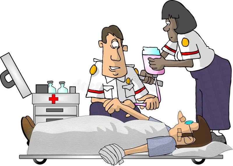Paramédicos de EMT ilustração stock