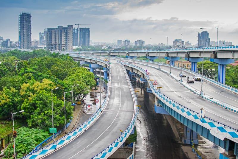 Parama-Inselüberführung, Kolkata, Westbengalen, Indien lizenzfreies stockfoto
