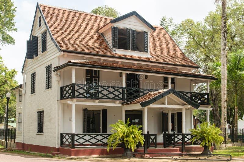 Paramaribo-Architektur stockbilder