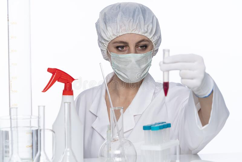 Laboratory blood analysis of new corona virus. Covid-19 royalty free stock photos