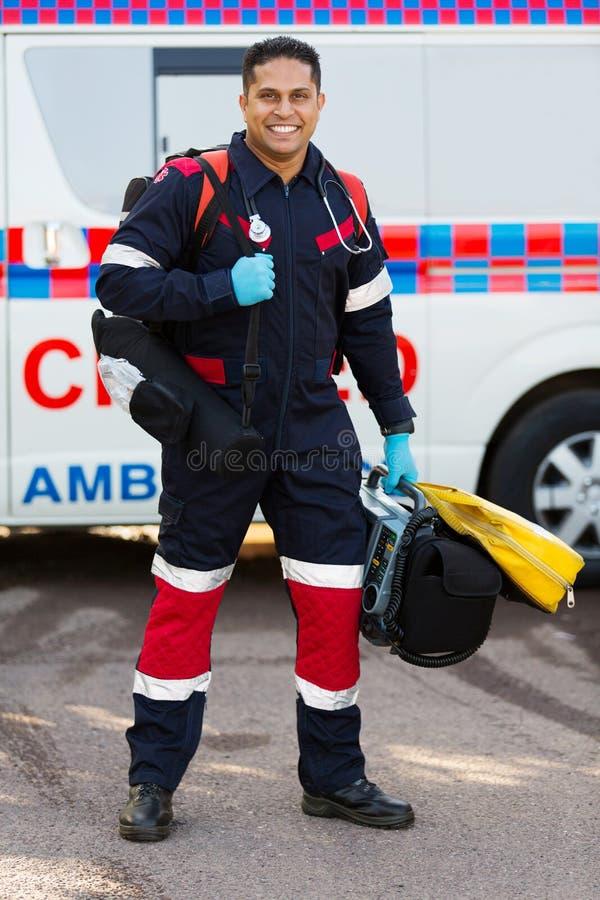 Paramedic portable medical equipments royalty free stock photos