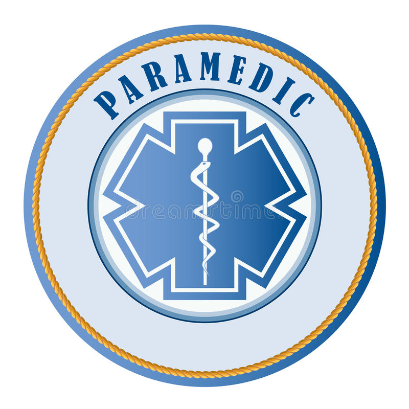 Paramedic seal or patch. Add your own text vector illustration