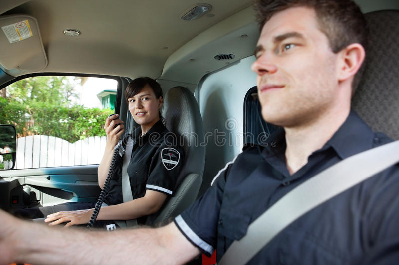Download Paramedic Team In Ambulance Stock Photo - Image: 21809280
