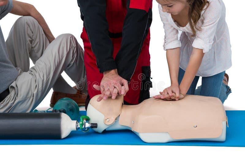 Download Paramedic Training Cardiopulmonary Resuscitation To Girl Stock Photo - Image of heart, paramedical: 84085660