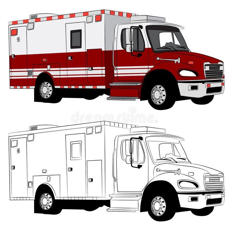 Paramedic Vehicle stock illustration