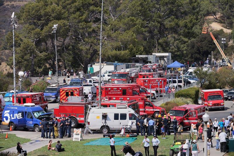 Paramedici all'osservatorio del Griffith immagini stock libere da diritti