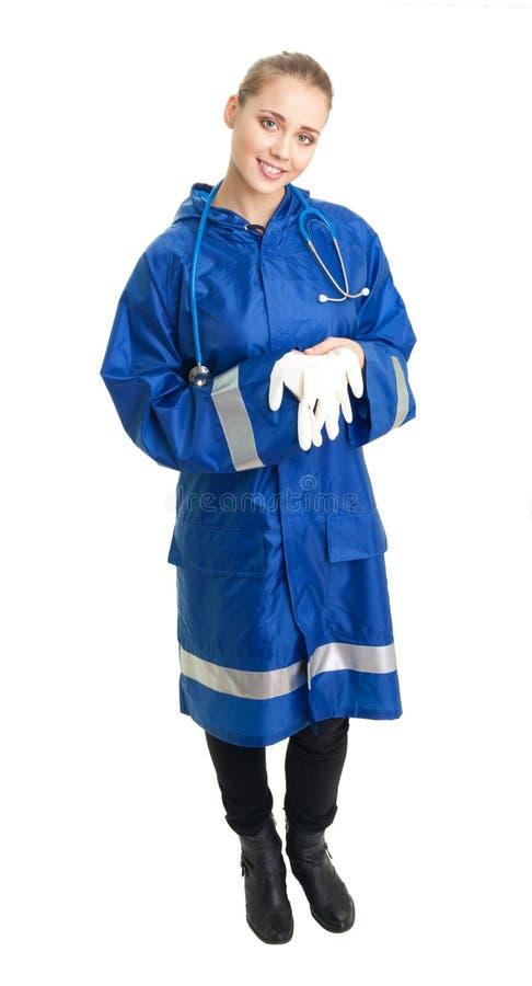 paramedicinsk kvinna arkivfoto