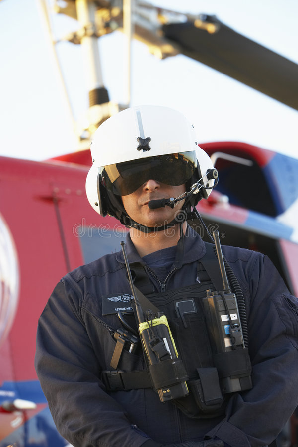 paramedicinsk ståendestanding för främre medevac royaltyfria foton