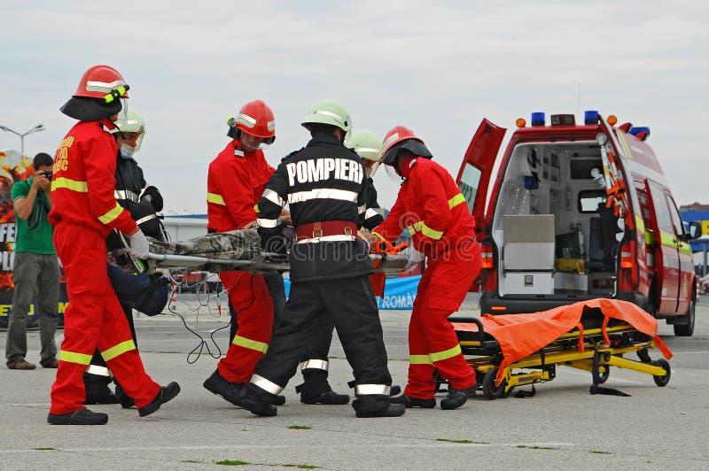 paramedics arkivfoton