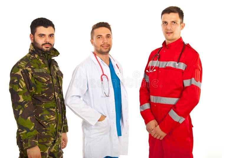 Paramedicus, arts en militair stock foto's