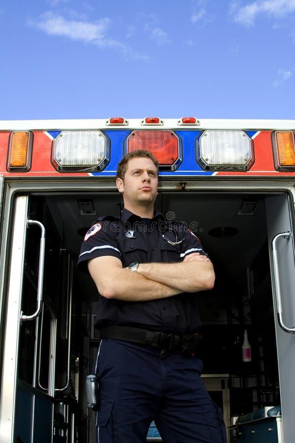 Paramedicus en ziekenwagen royalty-vrije stock foto's
