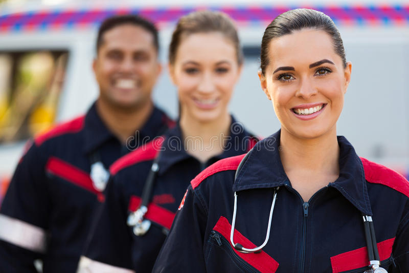 Paramedicusteam royalty-vrije stock afbeeldingen