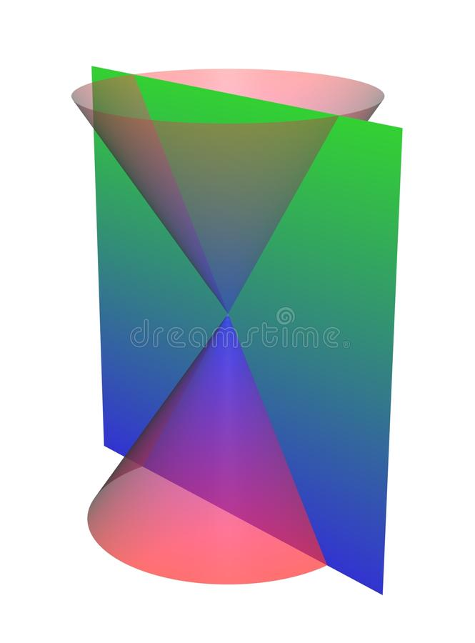 Conic Sections: Intersecting Lines stock photo