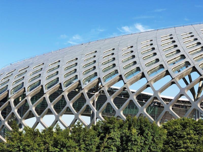 Parametrische Architectuur van Koepel Moderne architectuur stock foto's