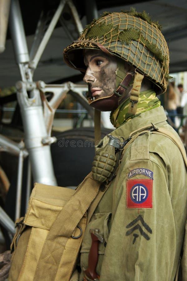 Paramilitar do americano de WWII   fotografia de stock royalty free