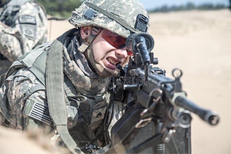 Paramilitar do Estados Unidos imagens de stock