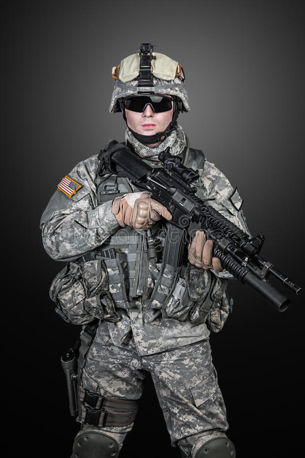Paramilitar do Estados Unidos imagens de stock royalty free
