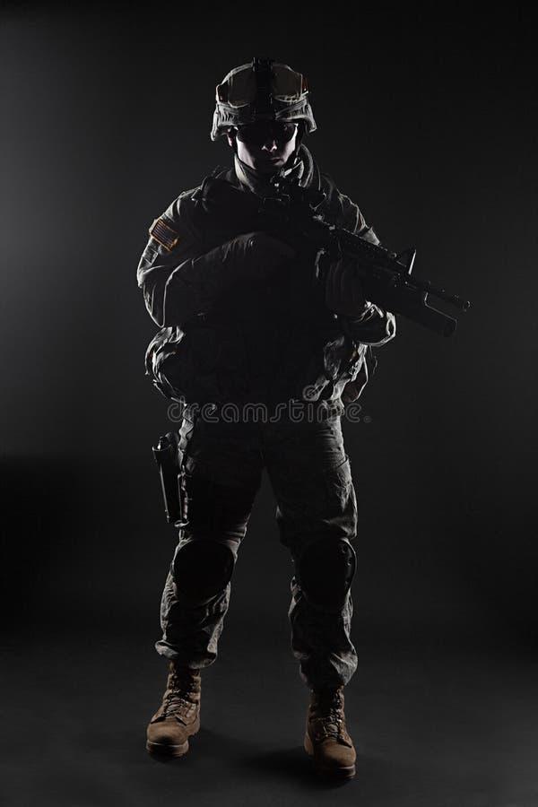 Paramilitar do Estados Unidos fotografia de stock