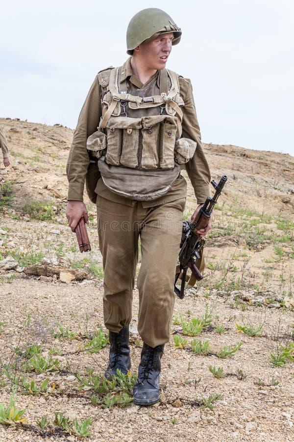 Paramilitar soviético em Afeganistão imagem de stock