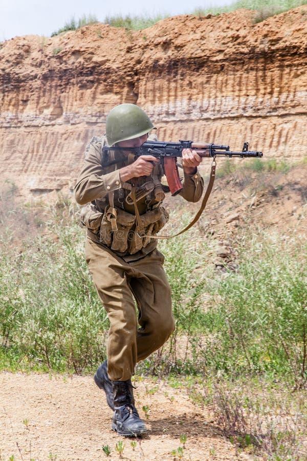 Paramilitar soviético em Afeganistão imagens de stock