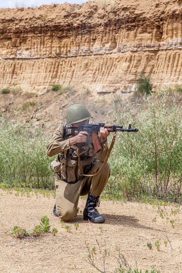 Paramilitar soviético em Afeganistão fotografia de stock