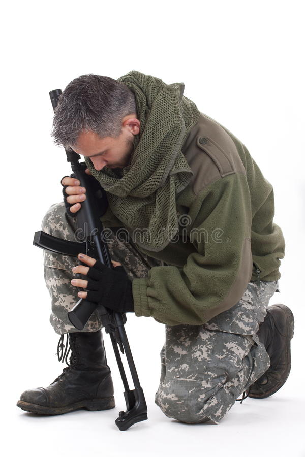 Download Paramilitary soldier stock photo. Image of assassin, crime - 17402676