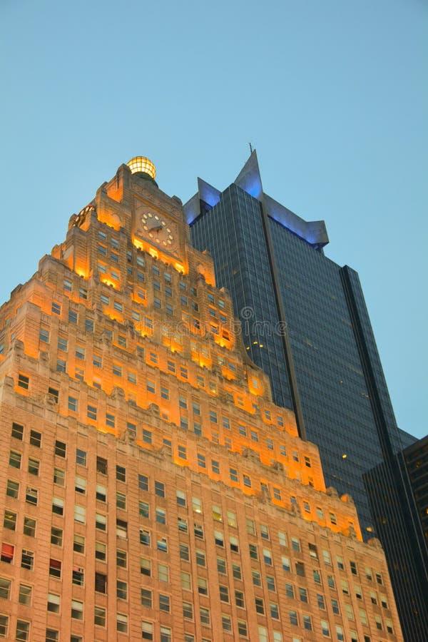 Paramount byggnad på Times Square New York arkivbilder