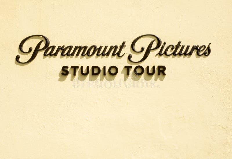Paramount Pictures assina na porta Hollywood no 14 de agosto de 2017 - Los Angeles da melrose, LA, Califórnia, CA foto de stock royalty free