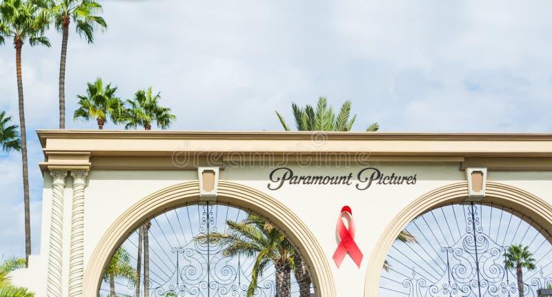 Paramount Pictures hänrycker i Los Angeles arkivbilder
