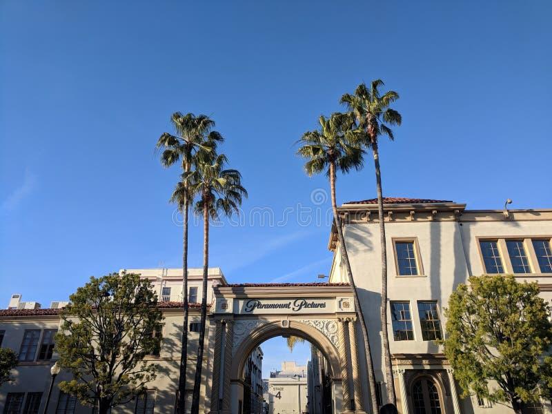 Paramount Pictures studioport royaltyfri fotografi