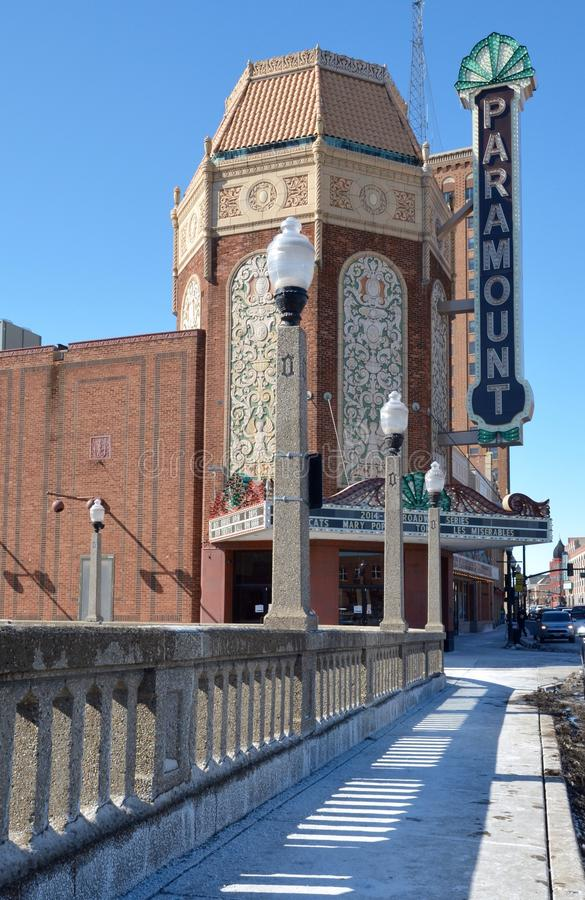 Paramount teater arkivbild