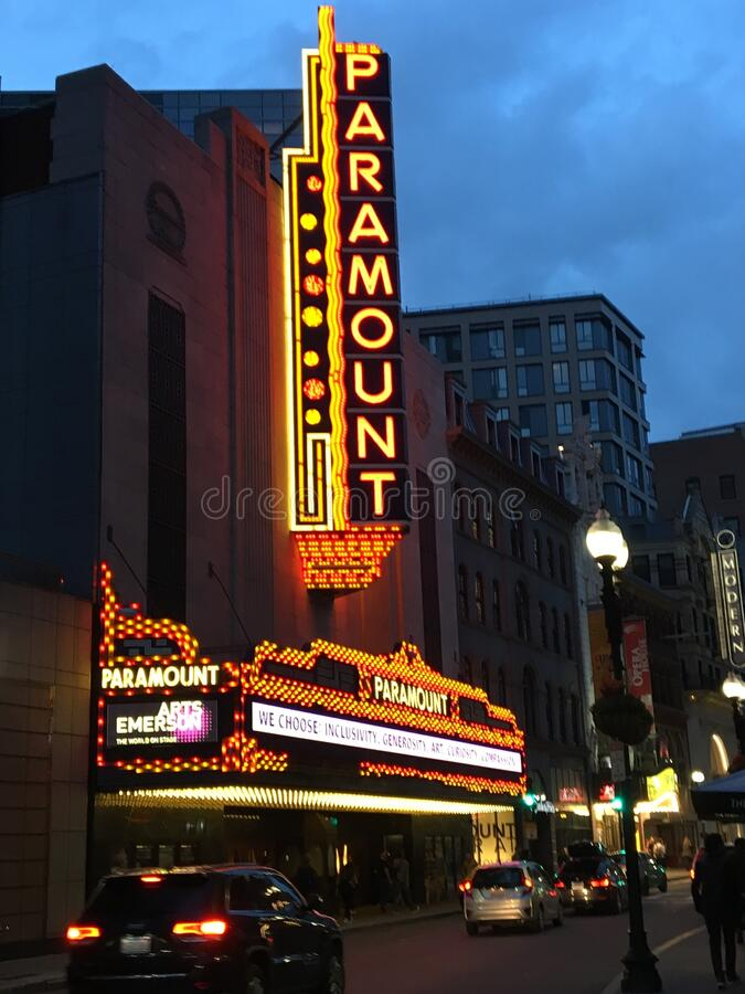 Paramount Theater, Boston royalty-vrije stock afbeelding