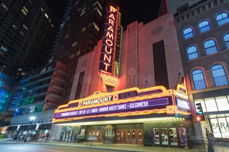 Paramount Theater - Boston, Massachusetts royalty free stock photography
