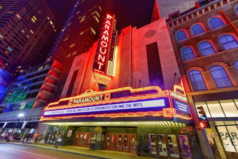 Paramount Theater - Boston, Massachusetts stock image