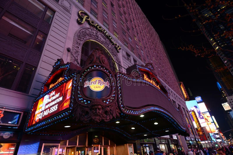 Paramount Theatre, Times Square, Manhattan, NYC royalty free stock photography