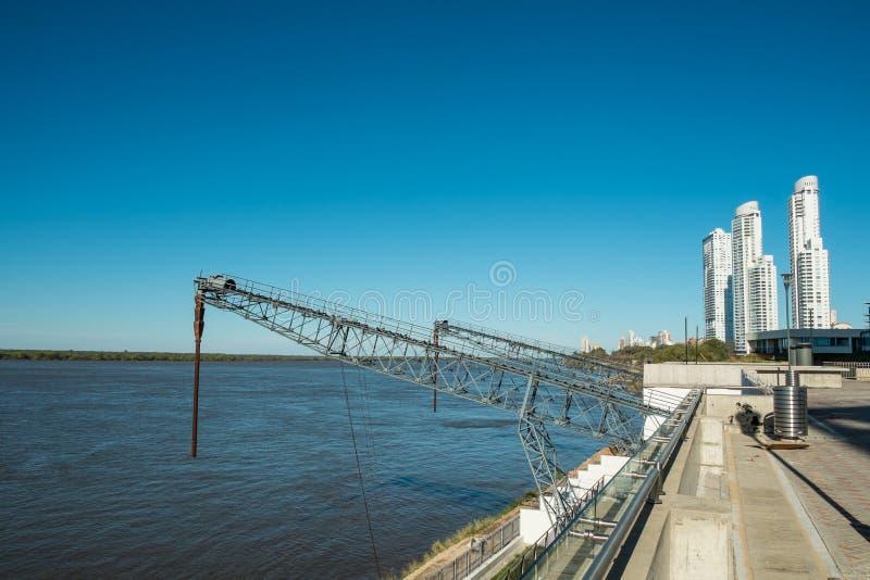 Parana River hamn royaltyfri bild