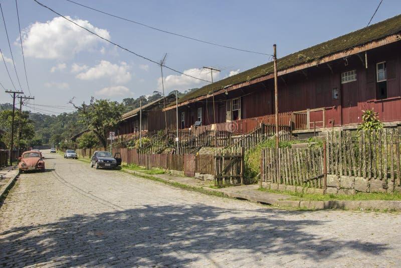 Paranapiacaba - Brazil. A wood house in Paranapiacaba town, Santo André, Sao Paulo state, Brazil stock photos