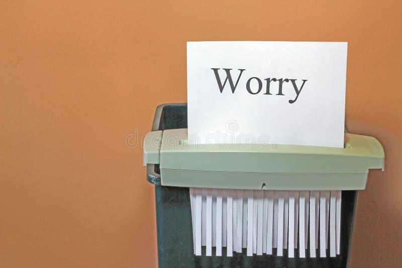 Parando a preocupação. imagem de stock