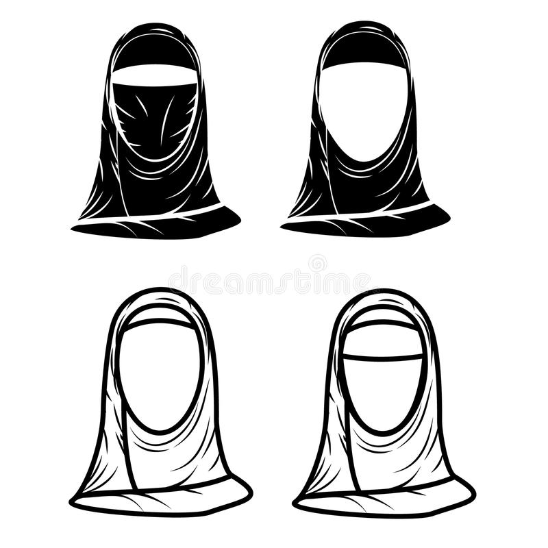 Paranja Hijab 皇族释放例证