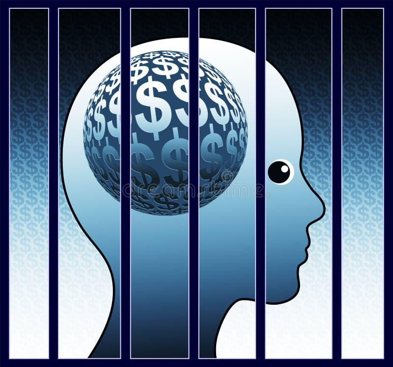 Paranoïa d'argent illustration libre de droits