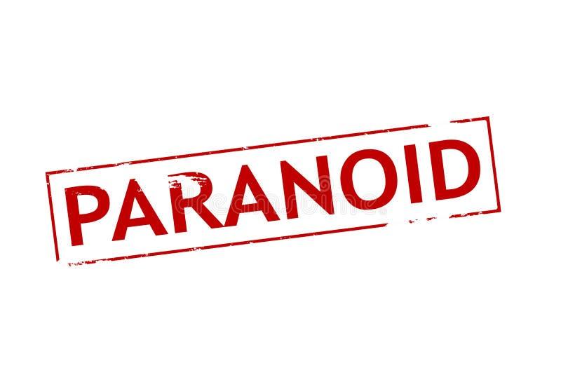 paranoïde illustration stock